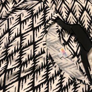 LuLaRoe Black & White patterned Julia Dress sz XL